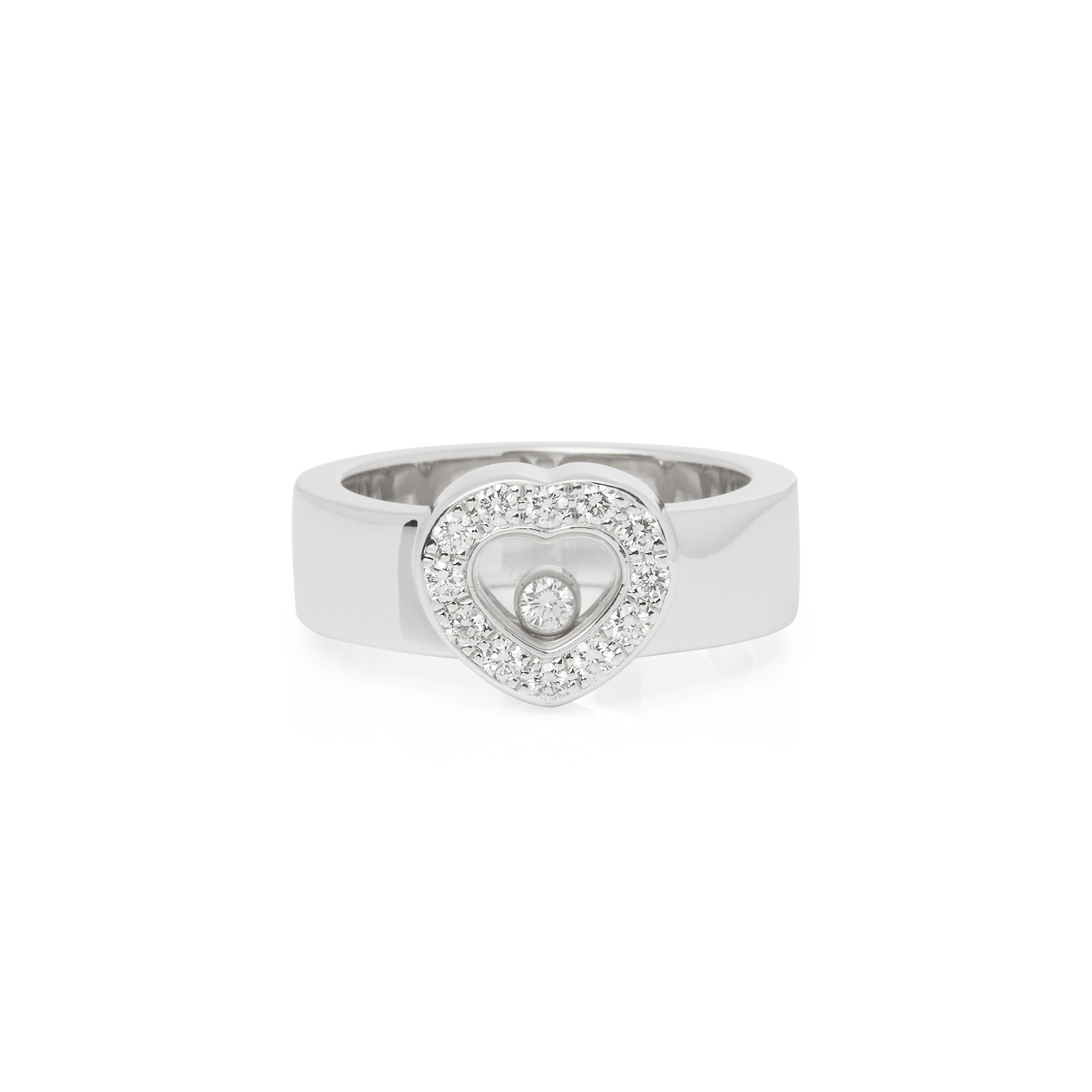 Chopard 18k White Gold Chopard Happy Diamonds Ring