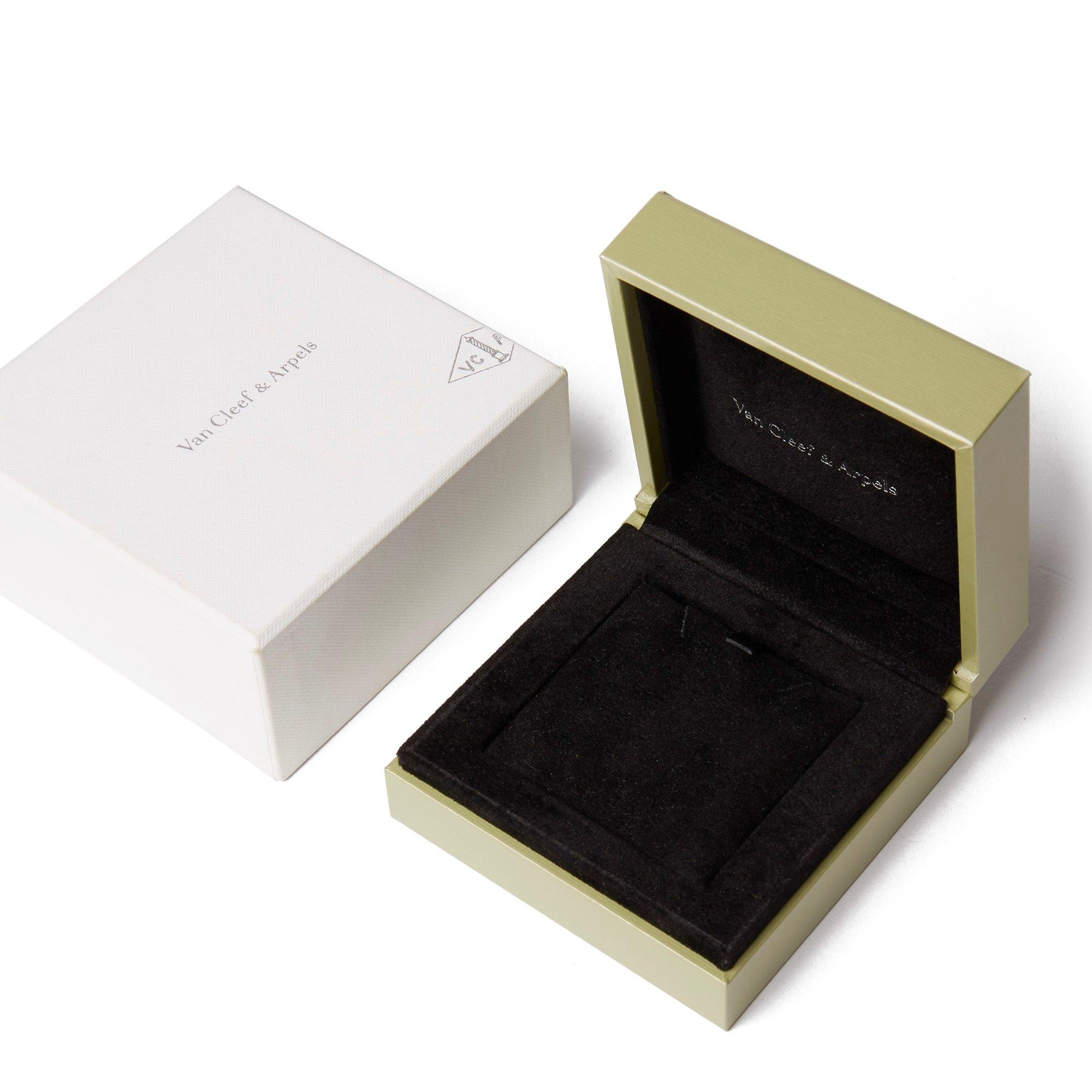 Van Cleef & Arpels 18k Yellow Gold Black Onyx Alhambra Single Pendant