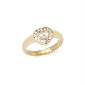 Chopard 18k Yellow Gold Happy Diamonds Ring