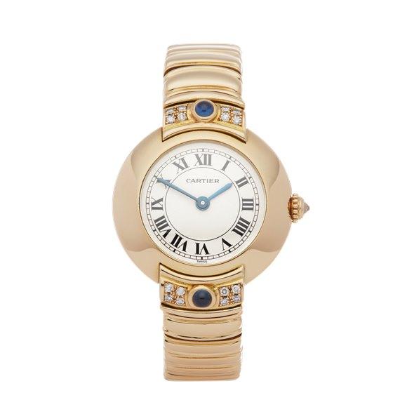 Cartier Vendome Paris Mecanique Diamond 18K Yellow Gold - 878999