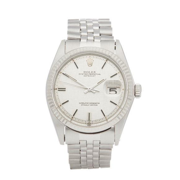 Rolex Datejust 36 Linen Dial Stainless Steel - 1601
