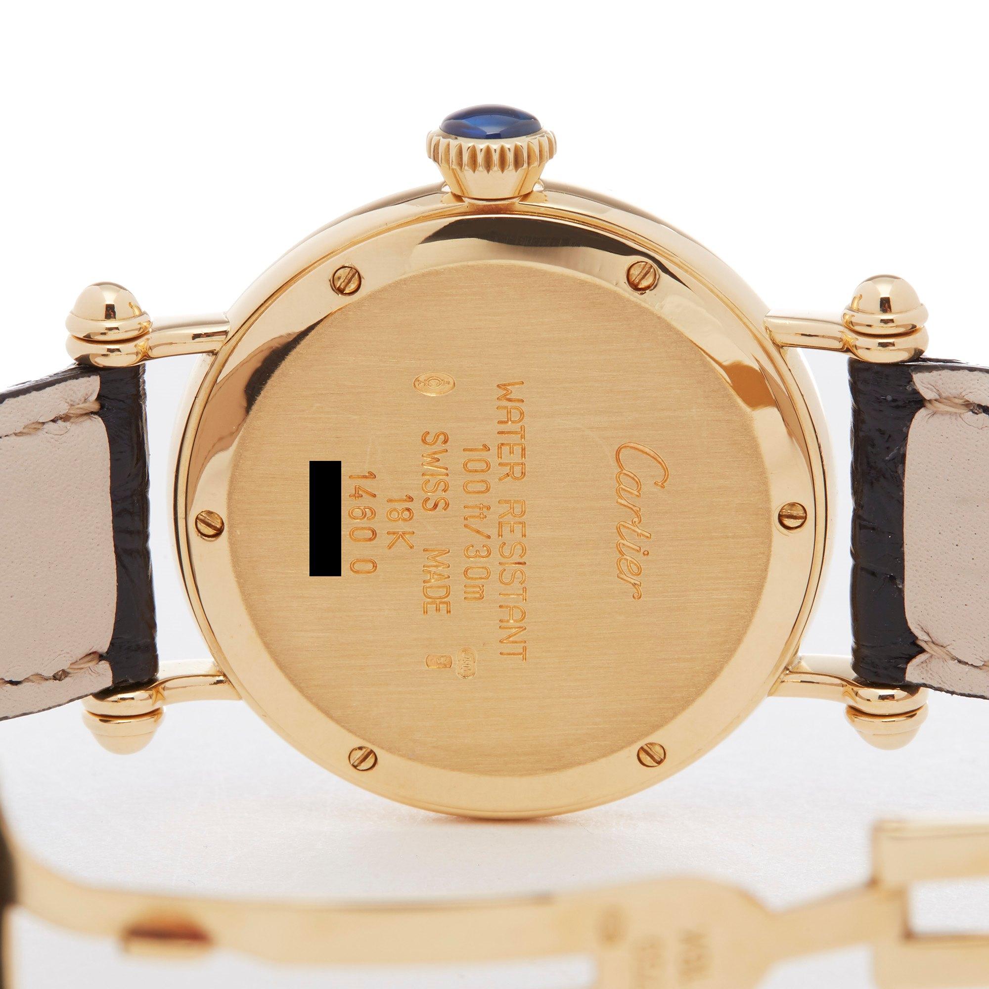 Cartier Diabolo Mechanique 18K Yellow Gold 1460 D