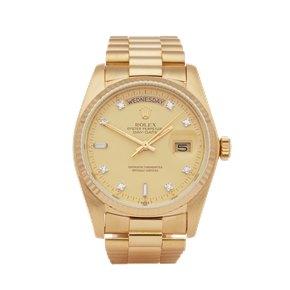 Rolex  36 18K Geel Goud