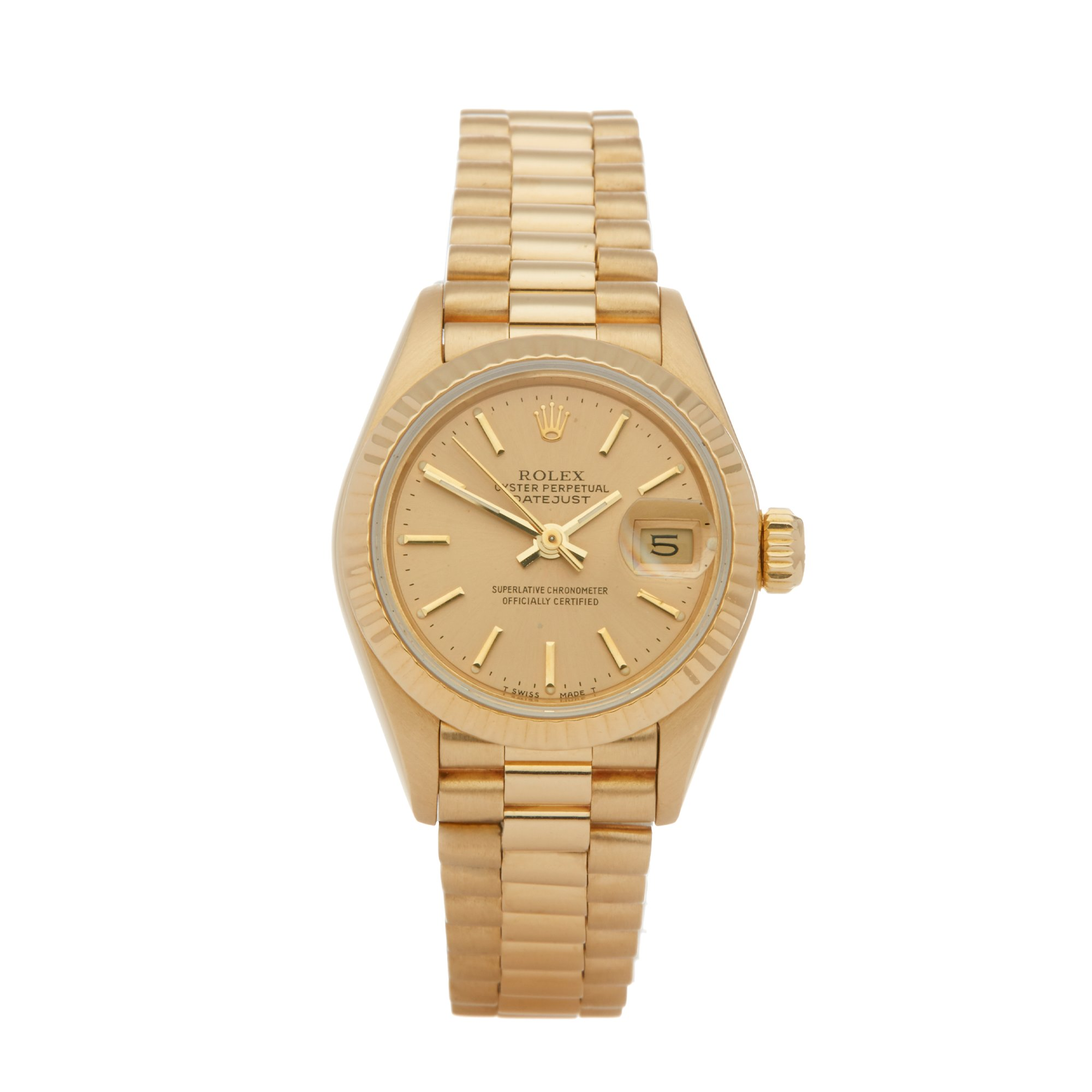 Rolex Datejust 26 Jubilee Dial 18K Yellow Gold 69178