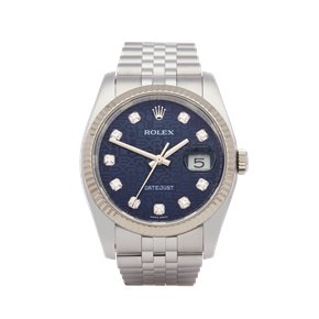 Rolex Datejust 36 Diamond Jubilee Dial Stainless Steel - 116234