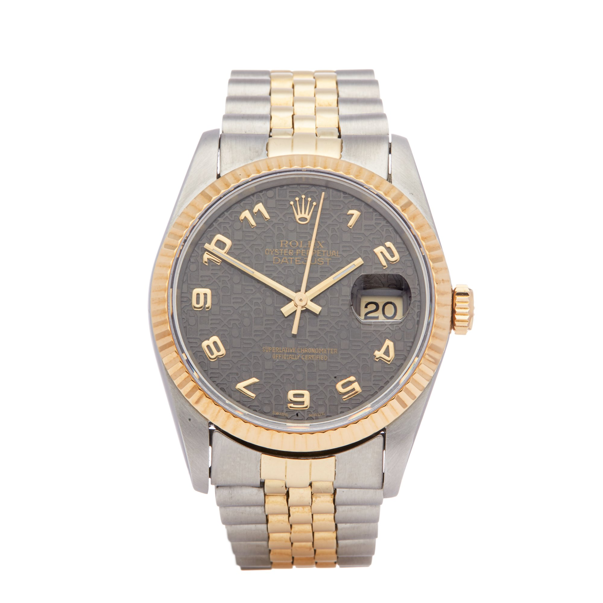 Rolex Datejust 36 Jubilee Dial Stainless Steel & Yellow Gold 16233