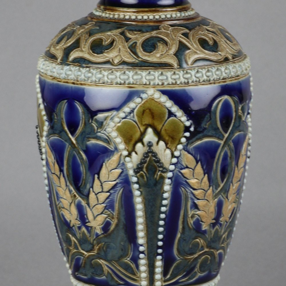 Antique Doulton Lambeth Vase By Emily London & William Baron Dated 1883