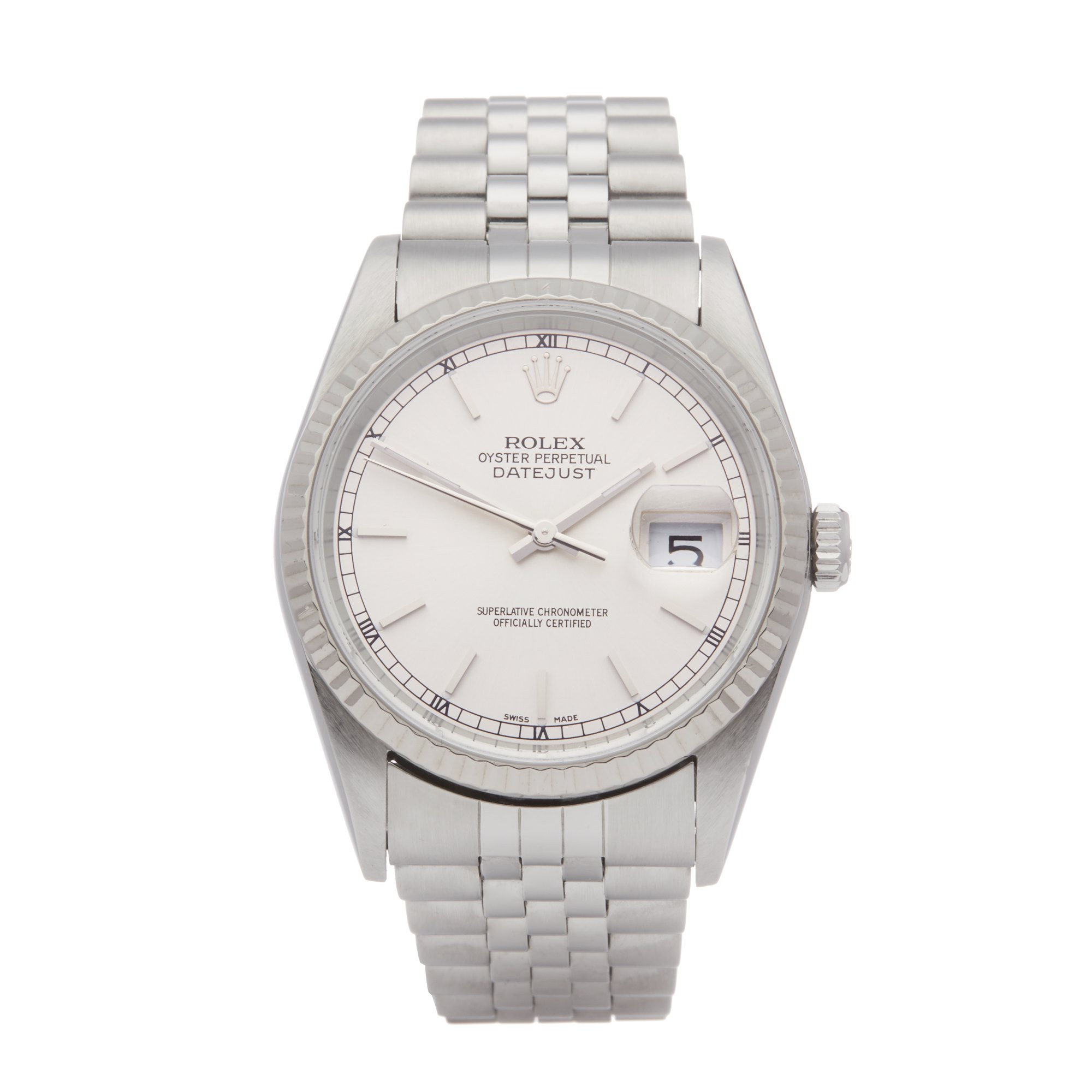 Rolex Datejust 36 Roestvrij Staal 16234
