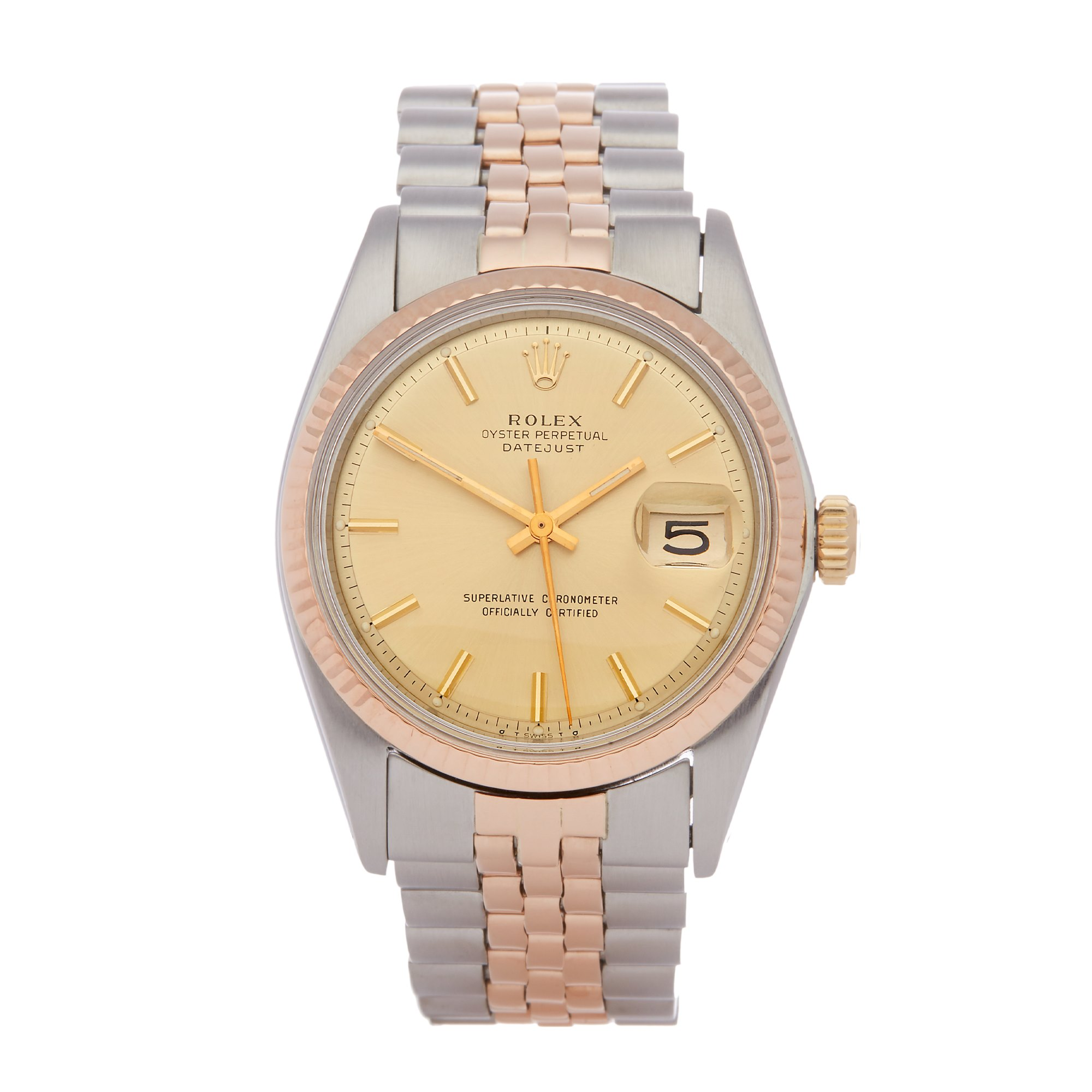 Rolex Datejust 36 18K Rose Gold & Stainless Steel 1601