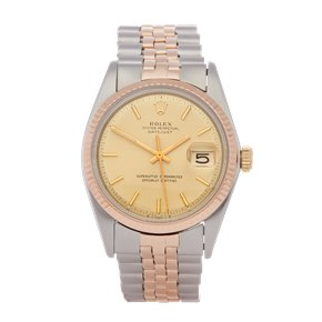 Rolex Datejust 36 Stainless Steel & Rose Gold - 1601