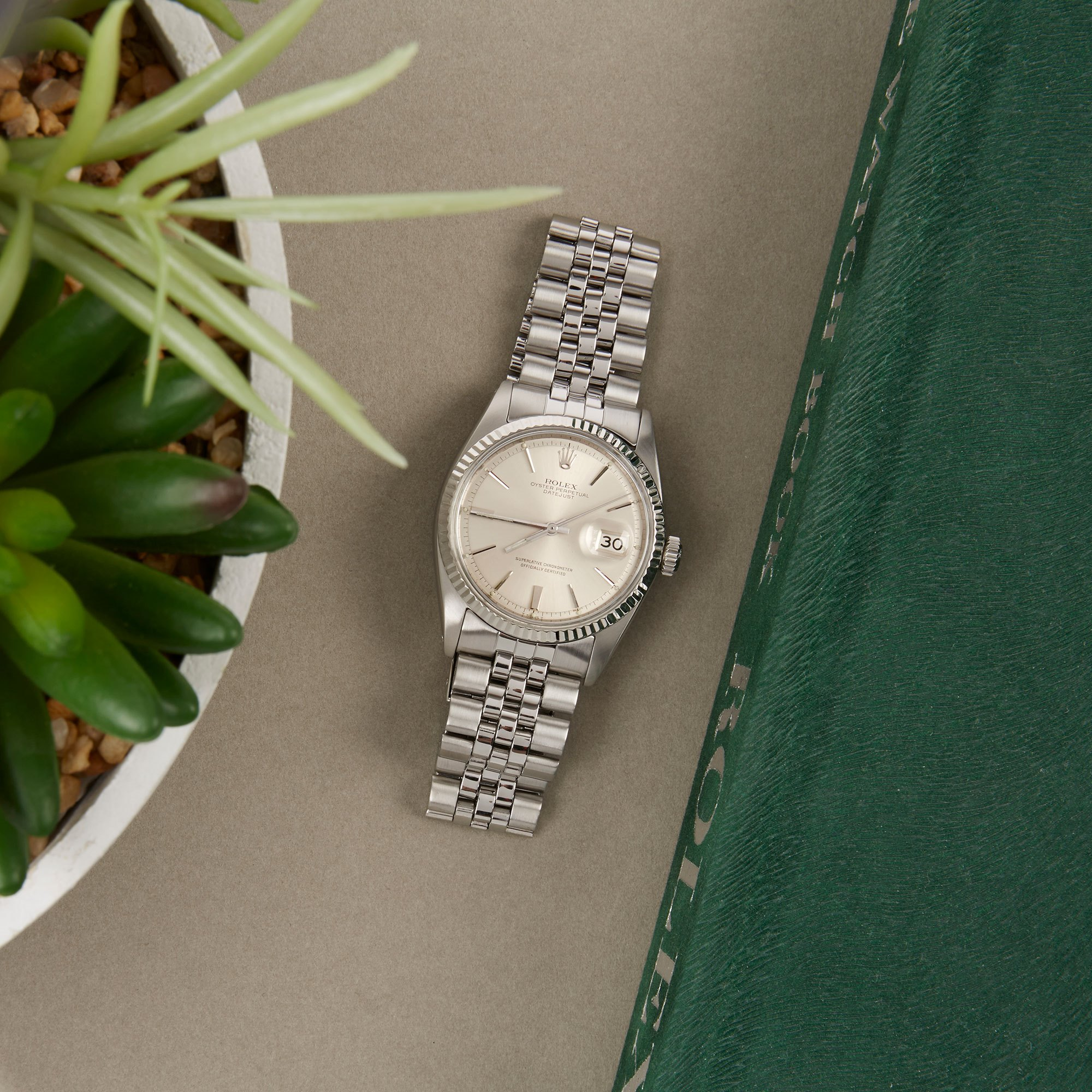 Rolex Datejust 36 Step DIal Stainless Steel 1601
