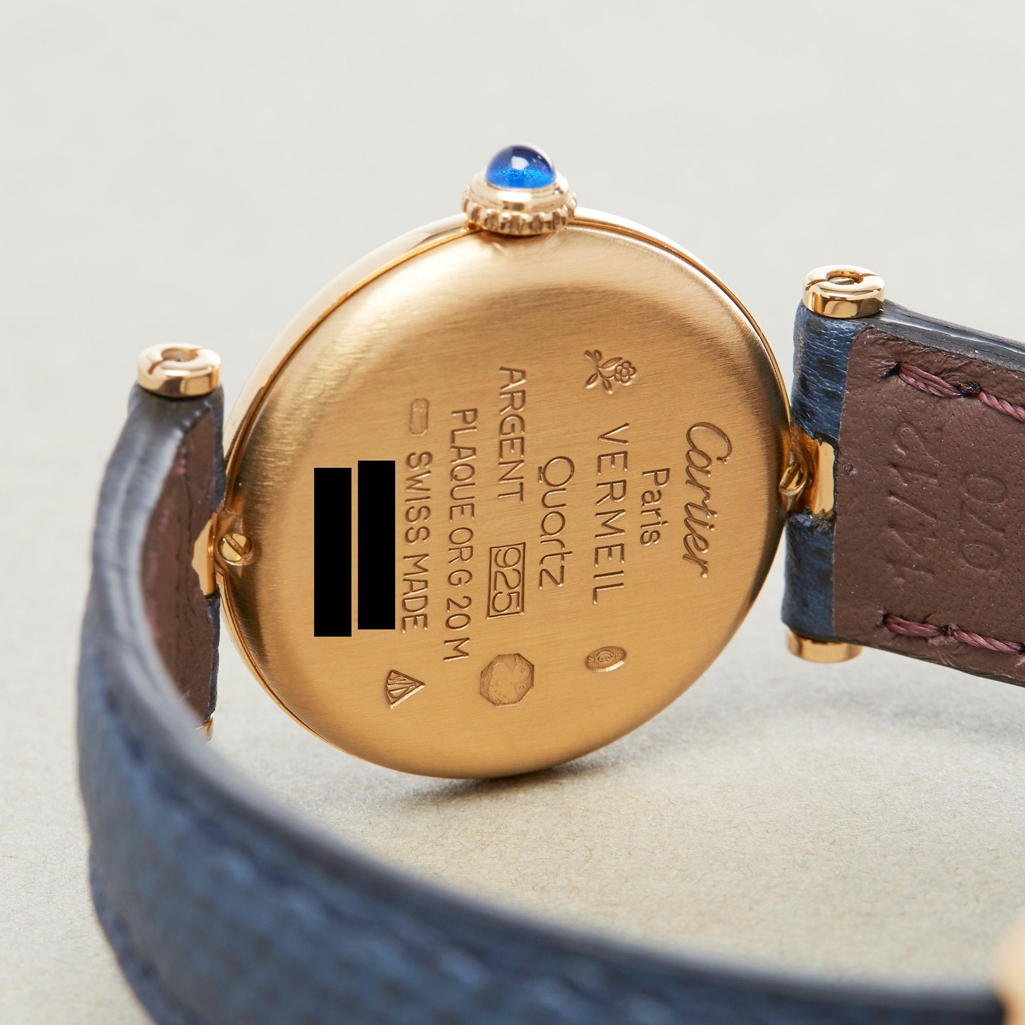 Cartier Must de Cartier Ronde Gold Plated 590004