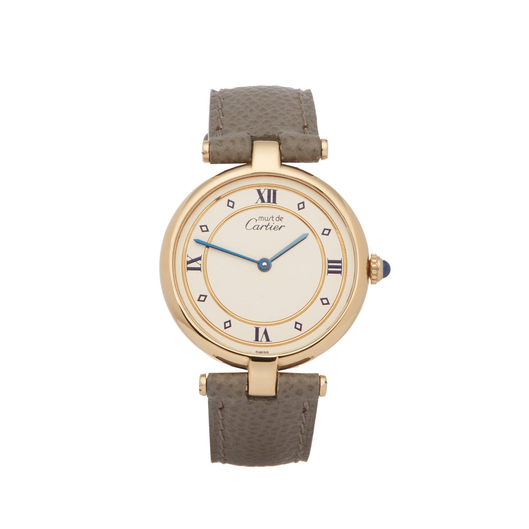 Cartier Must de Cartier Ronde Gold Plated 101958