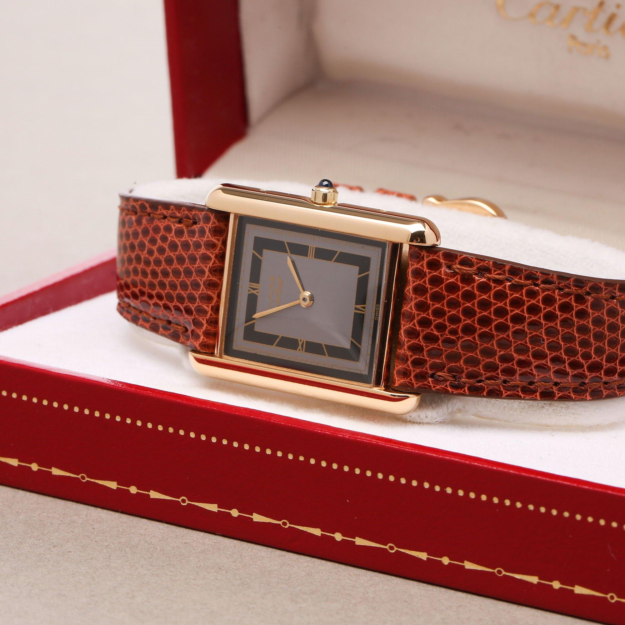Cartier Must de Cartier Tank Paris Gold Plated 691006