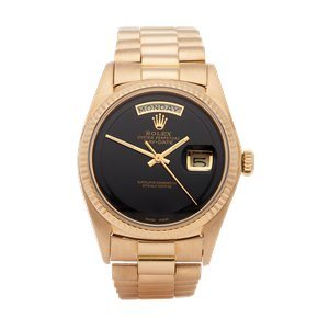 Rolex Day-Date 36 Onyx Step Dial 18K Yellow Gold - 1803
