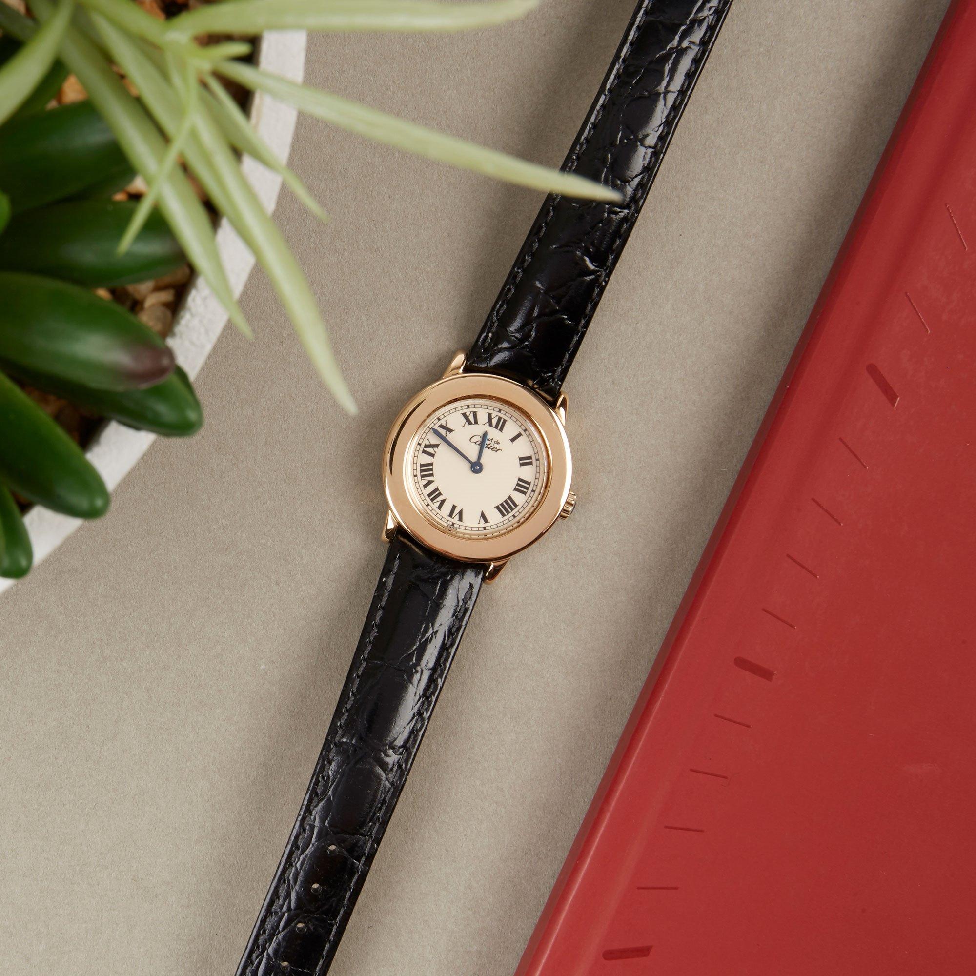 Cartier Must de Cartier Ronde Gold Plated 1801