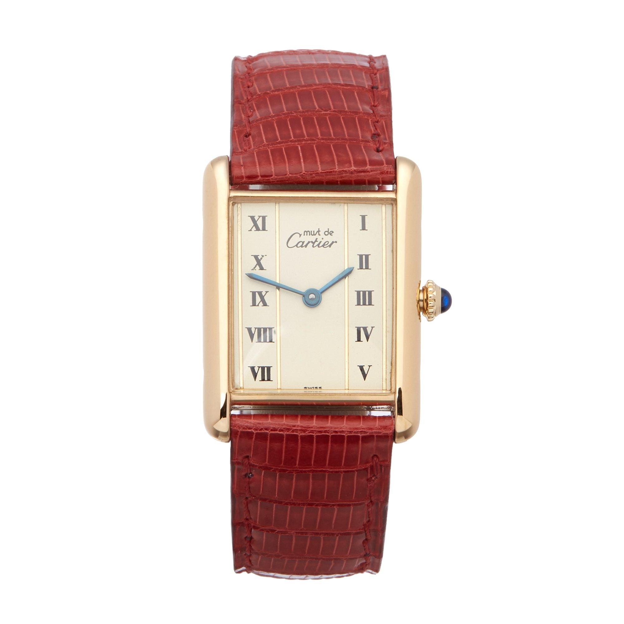 Cartier Must de Cartier Tank, Gold Plated 82102