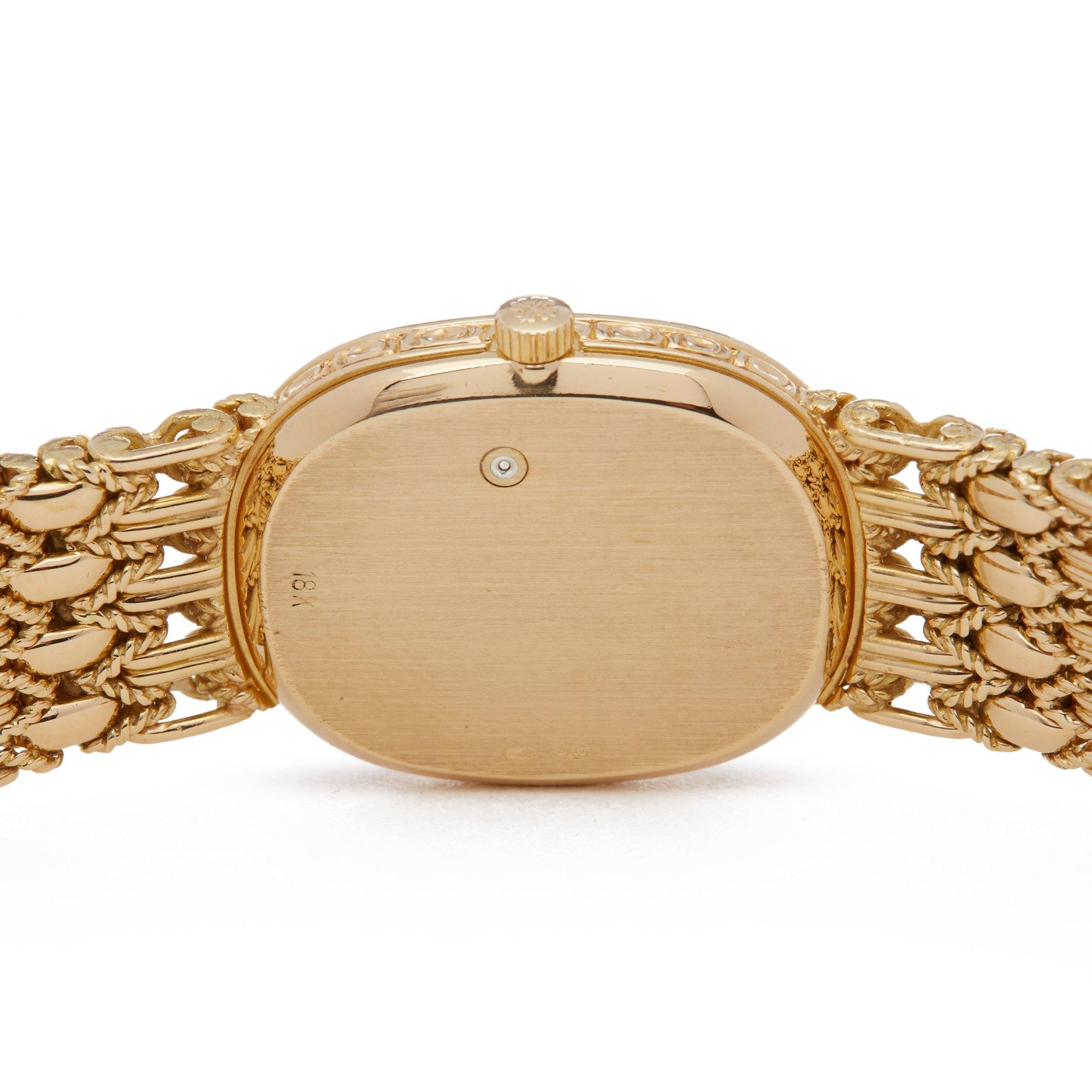 Patek Philippe Ellipse Factory Diamonds 18K Yellow Gold 4698