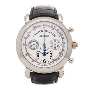 Franck Muller Round Split Seconds Chronograph 18K White Gold - 7008CC