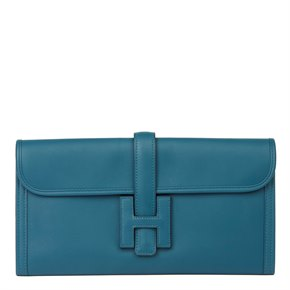 Hermès Blue Colvert Swift Leather Jige Elan 29