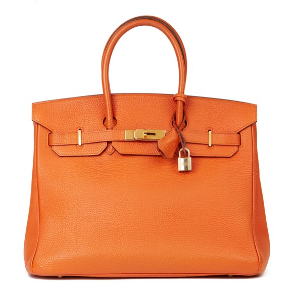 Hermès Orange H Togo Leather Birkin 35cm