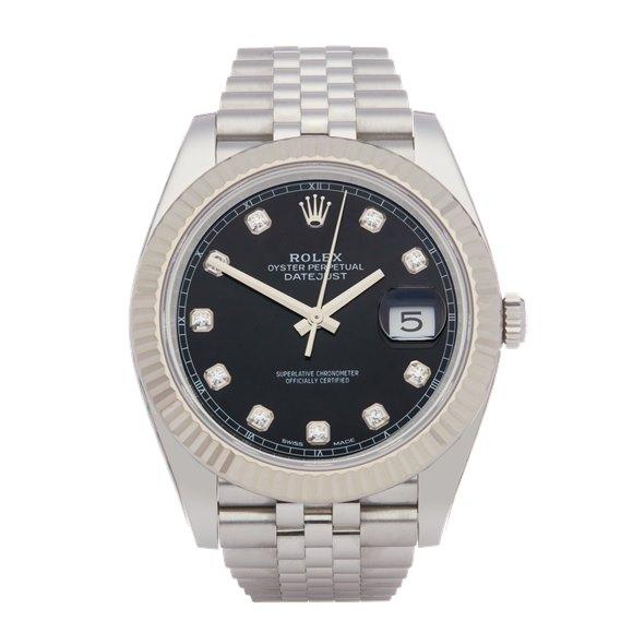Rolex Datejust 41 Diamond Stainless Steel - 126334