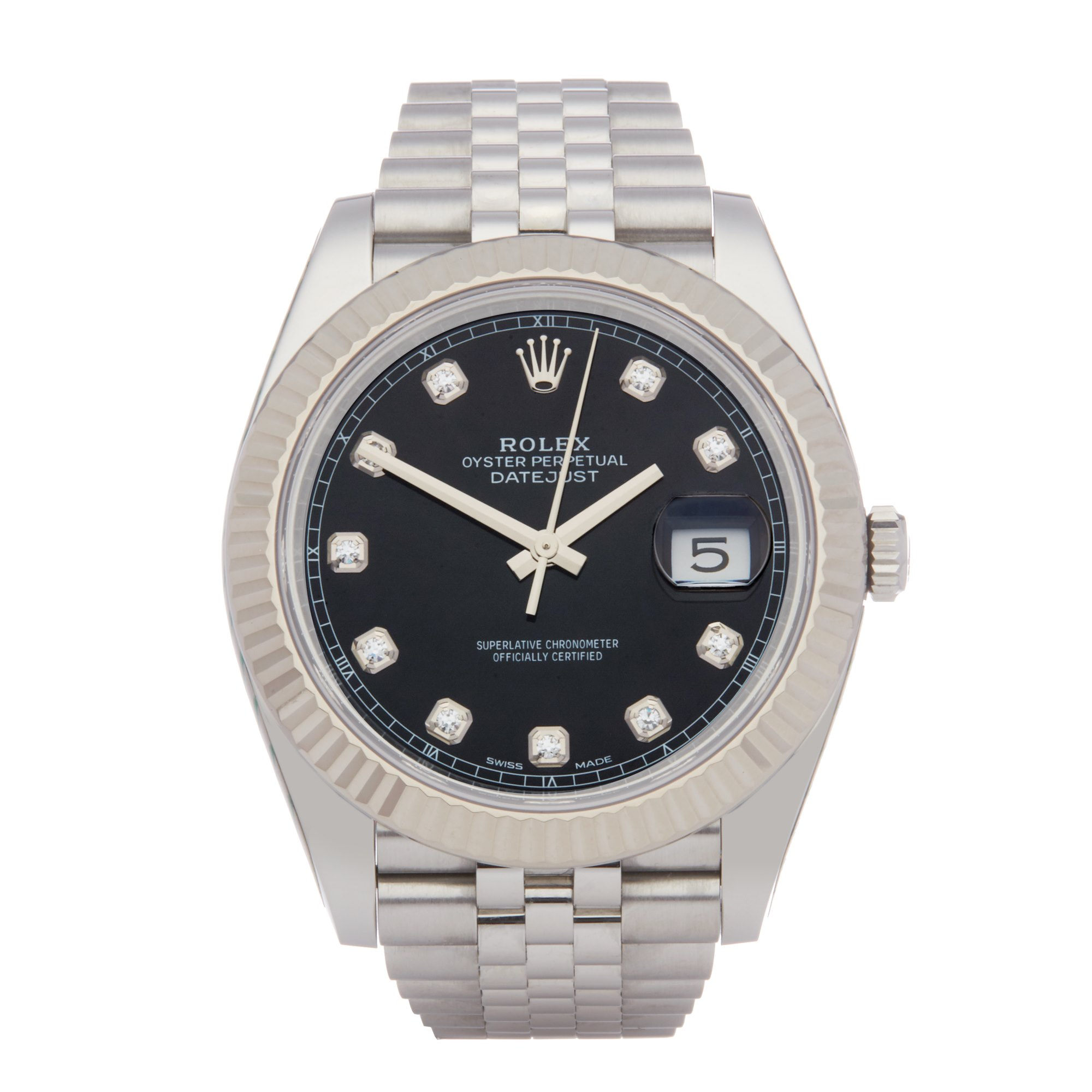 Rolex Datejust 41 Diamond Stainless Steel 126334