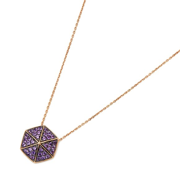 Stephen Webster 18k Rose Gold full Pave Amethyst Deco Pendant