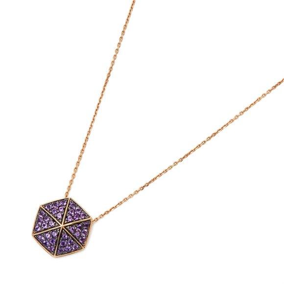 Stephen Webster 18k Rose Gold full Pave Amethyst Deco Pendant