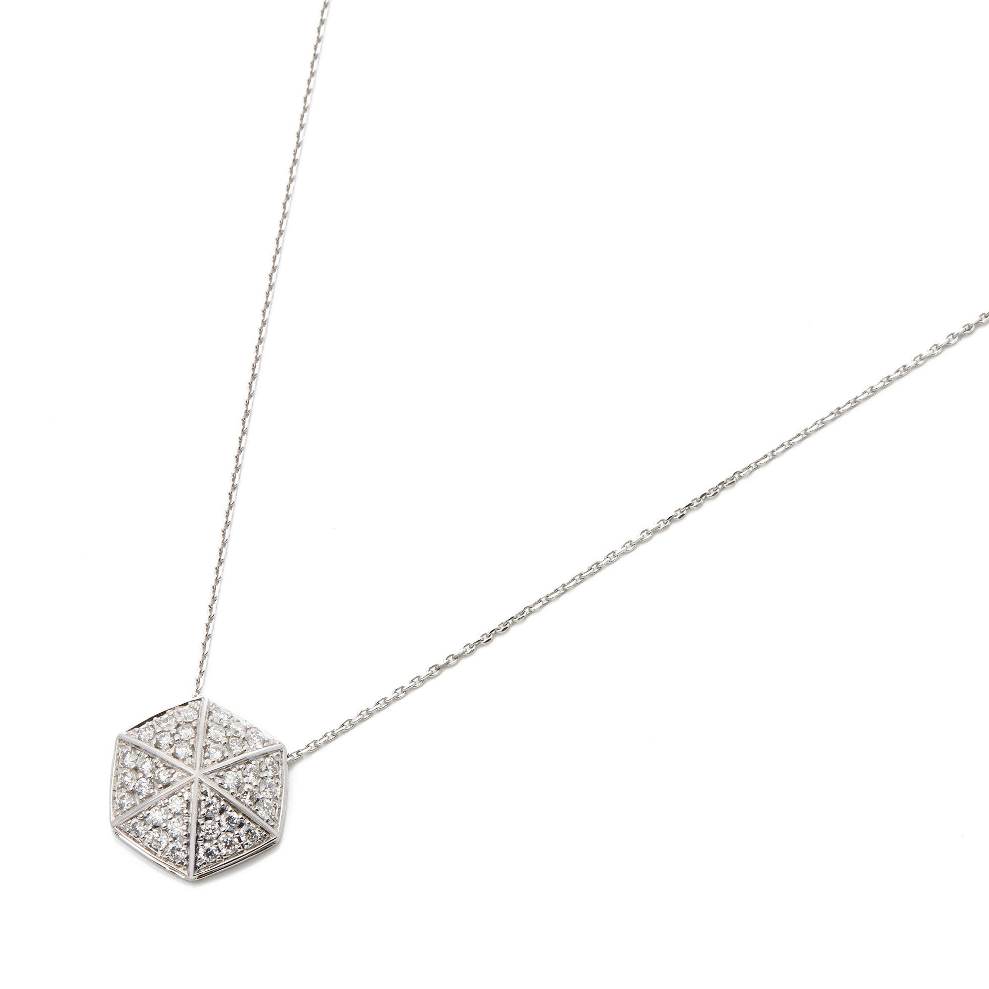 Stephen Webster 18k White Gold full Pave Diamond Deco Pendant
