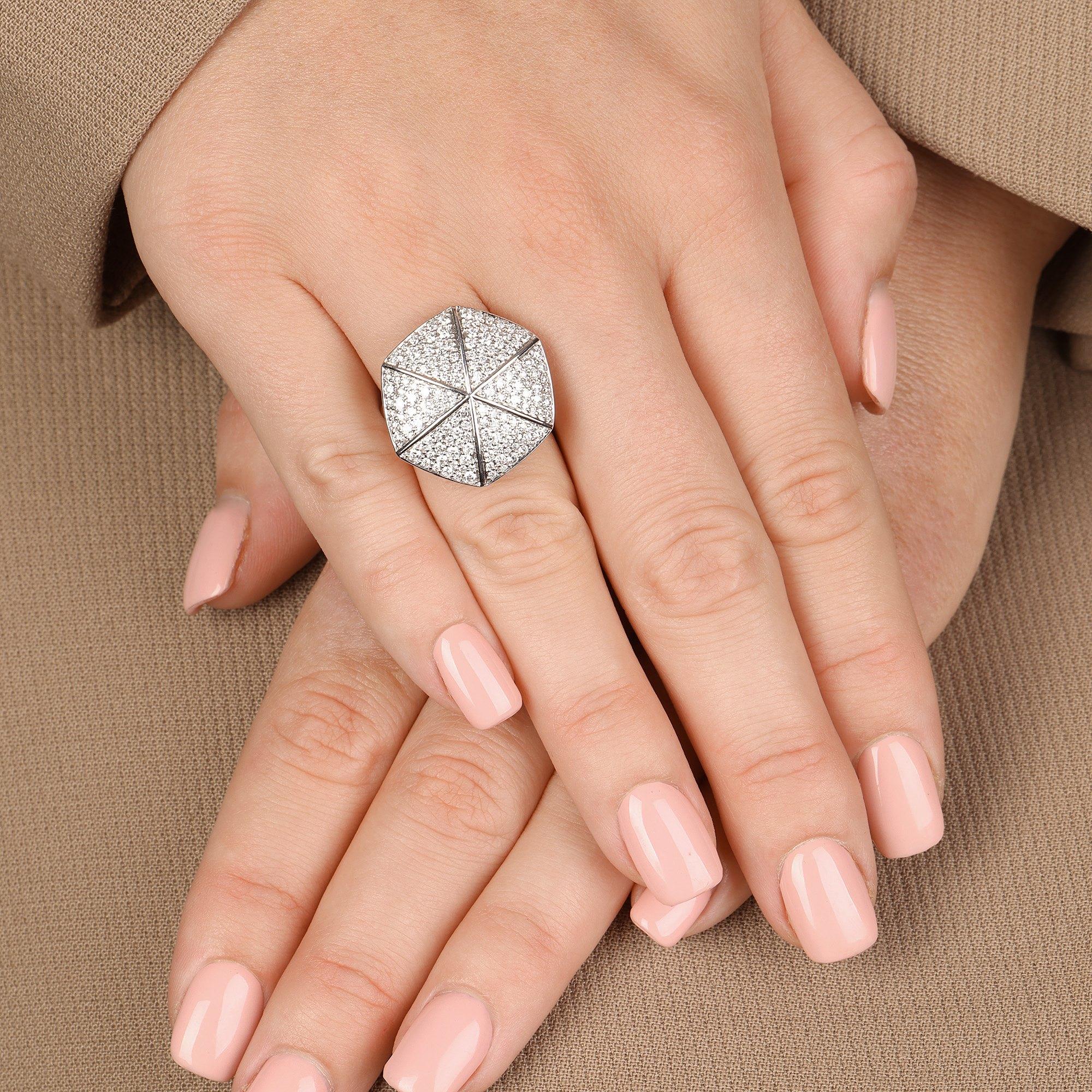 Stephen Webster 18k White Gold Diamond Deco Ring