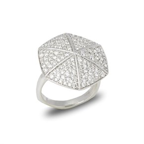 Stephen Webster 18k White Gold Diamond Deco Ring