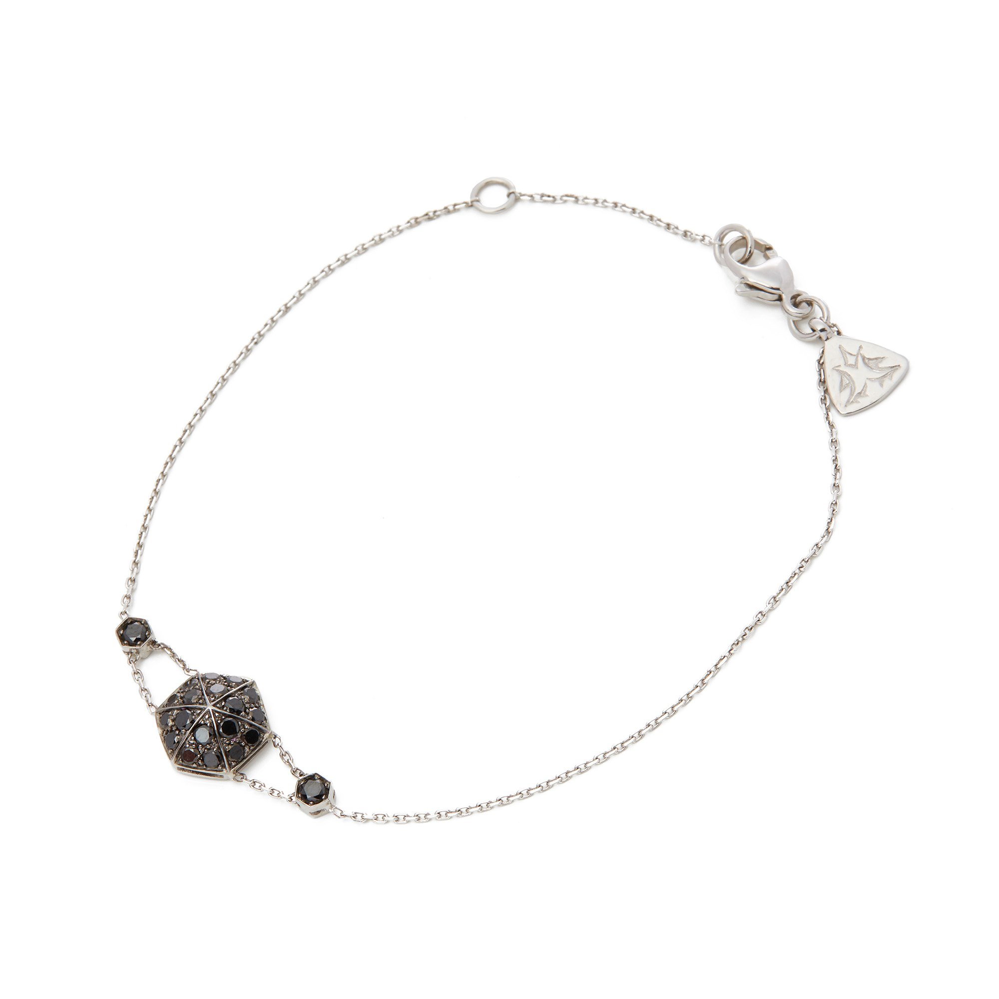 Stephen Webster 18k White Gold Black Diamond Pave Deco Bracelet