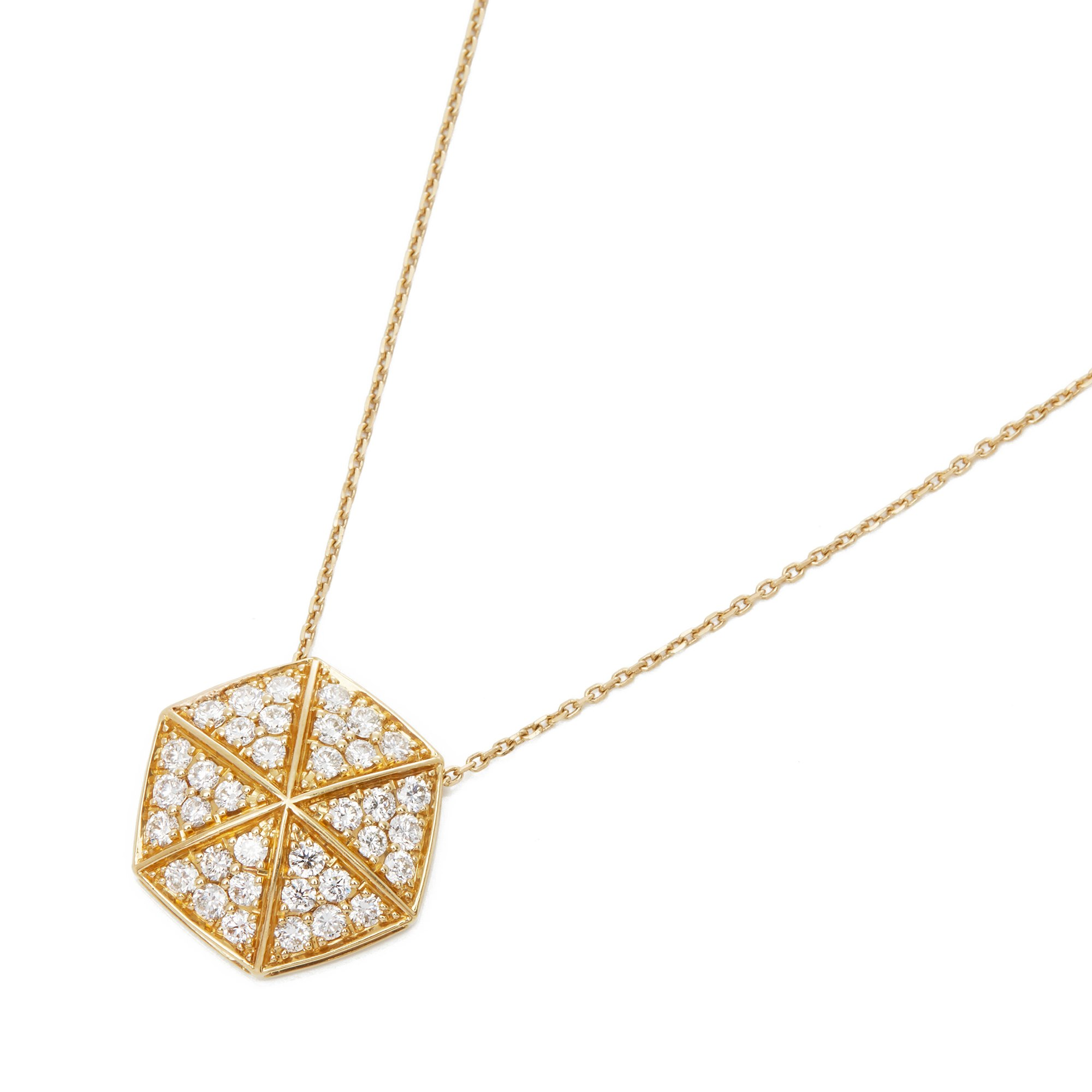 Stephen Webster 18k Yellow Gold full Pave Diamond Deco Pendant