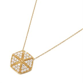 Stephen Webster 18k Yellow Gold full Pave Diamond Deco Pendant