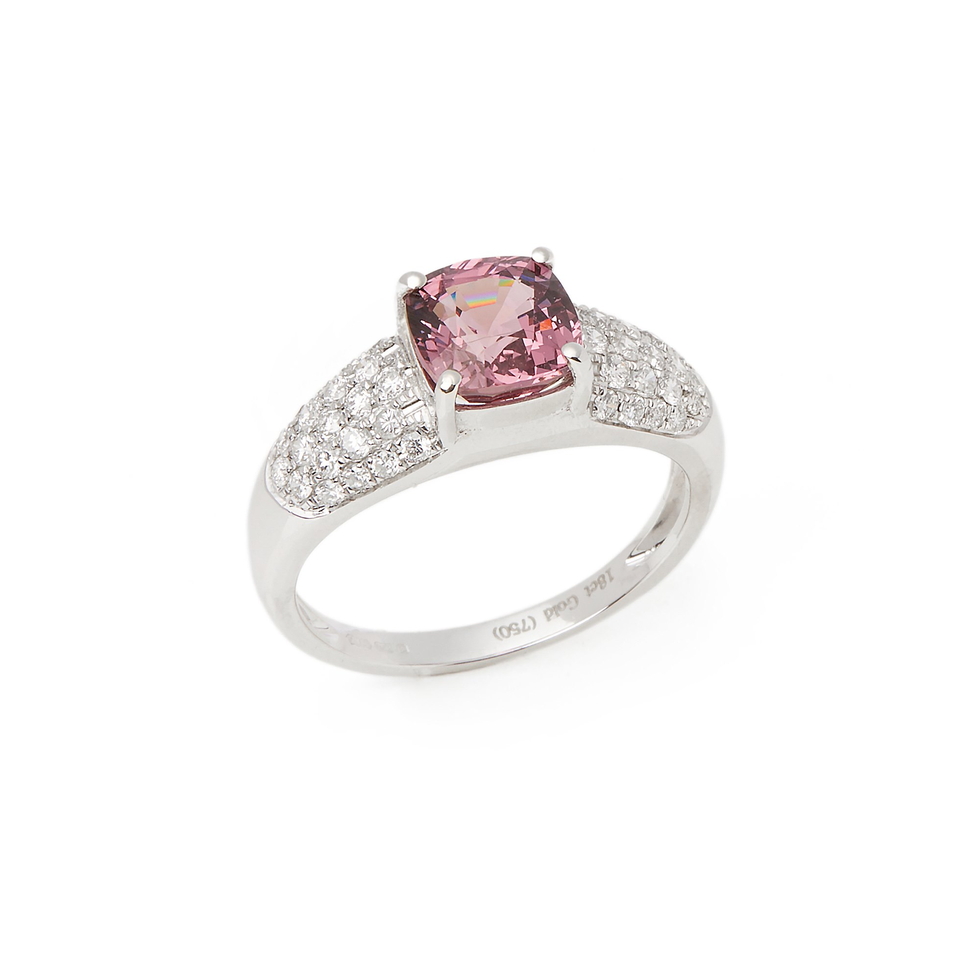 David Jerome 18ct White Gold Spinel and Diamond Dress Ring
