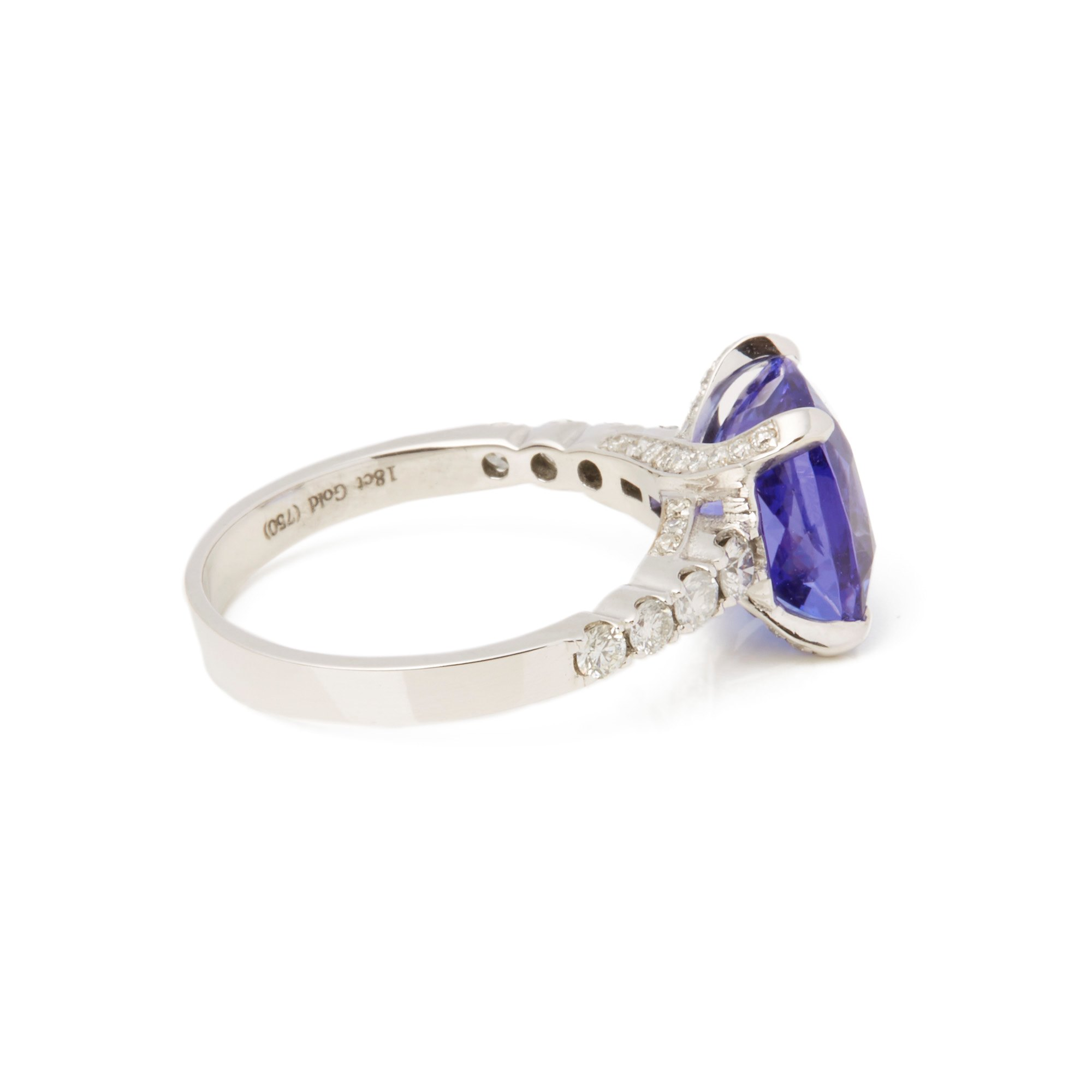 David Jerome 18ct White Gold Tanzanite and Diamond Ring
