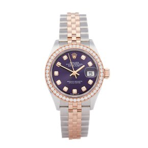 Rolex Datejust 28 Diamond Stainless Steel & Rose Gold - 279381RBR