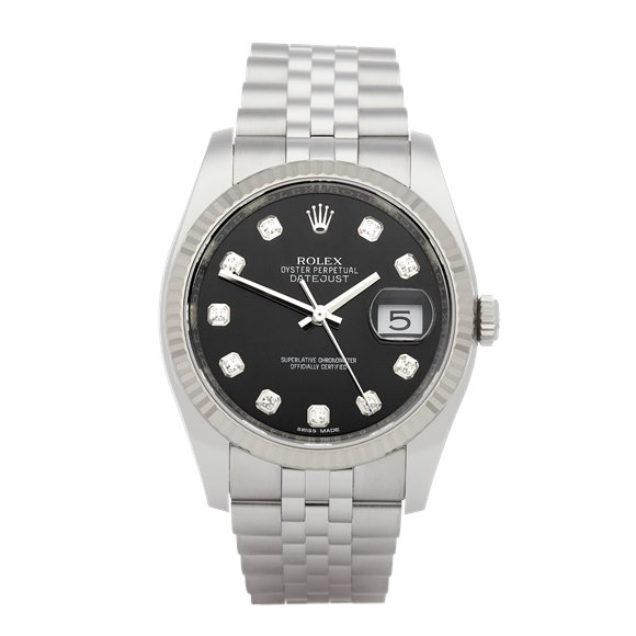 Rolex Oyster Perpetual 36 Diamond Stainless Steel - 116234