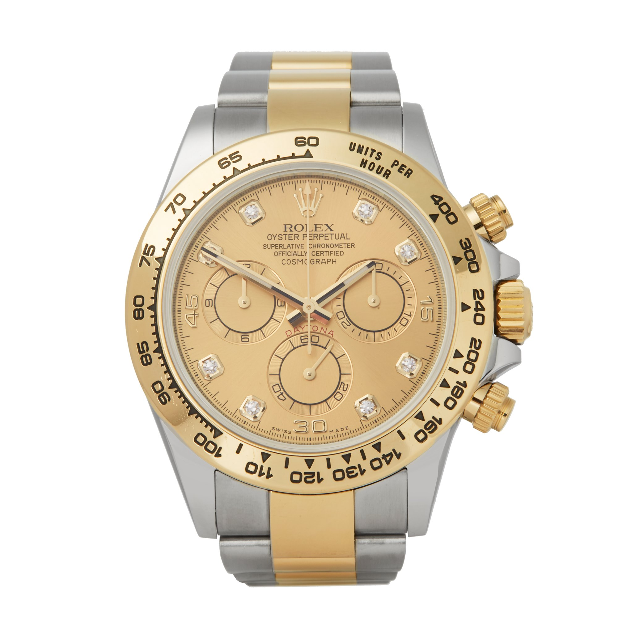 Rolex Daytona Diamond Chronograph Stainless Steel & Yellow Gold 116503