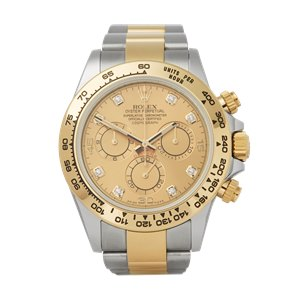 Rolex Daytona Diamond Chronograph Stainless Steel & Yellow Gold - 116503