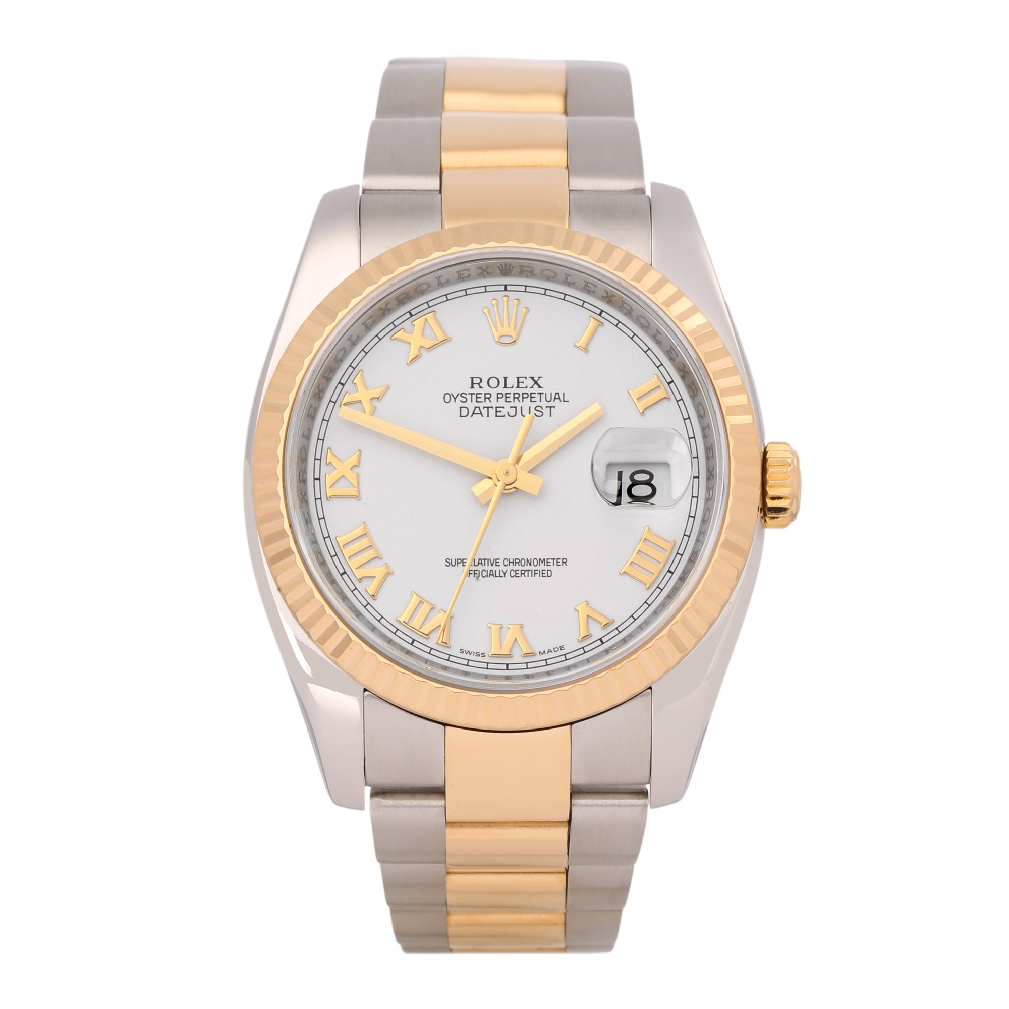 Rolex Datejust 36 Stainless Steel & Yellow Gold 116233