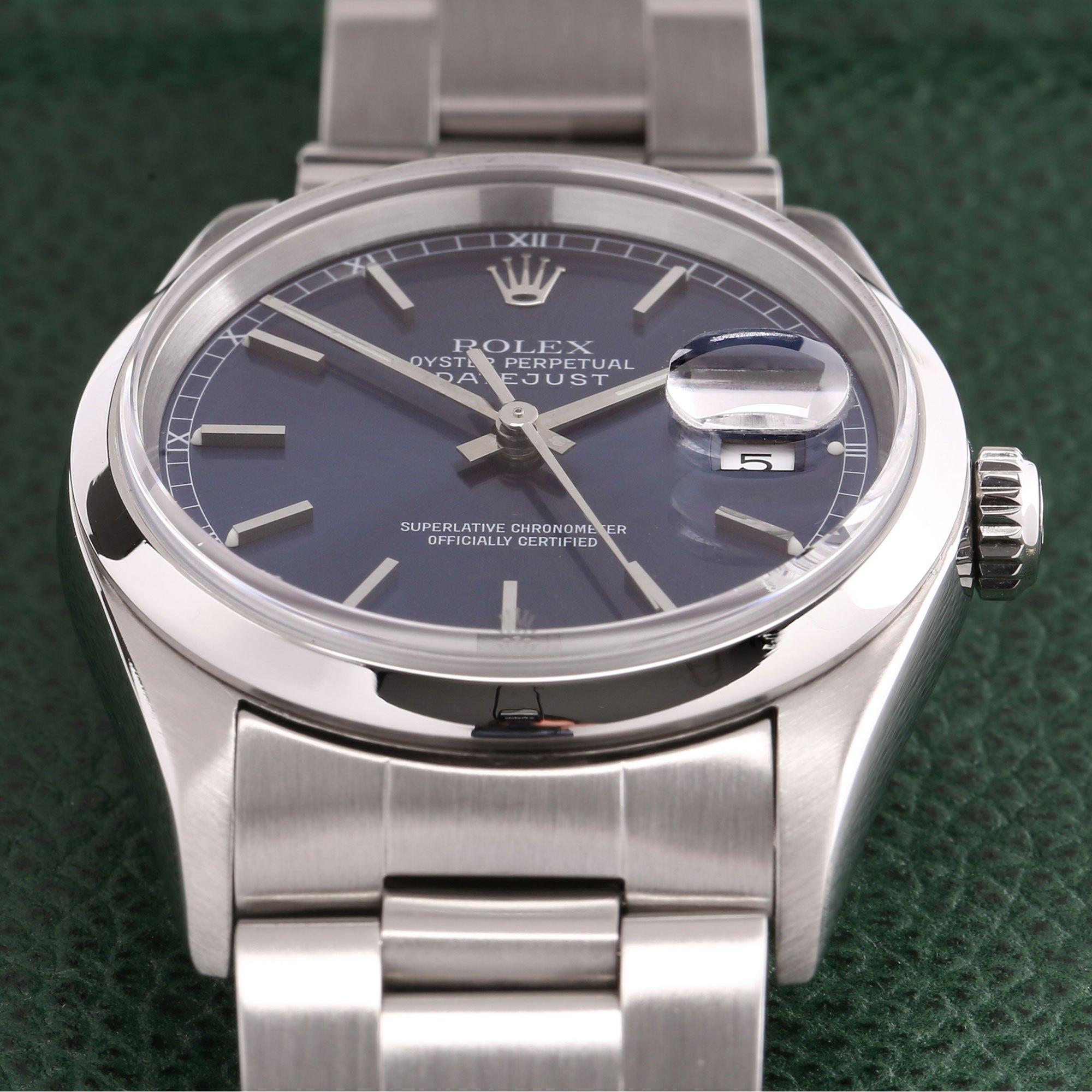 Rolex Datejust 36 Stainless Steel 16200