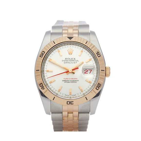 Rolex Datejust 36 Turn o Graph Stainless Steel & Yellow Gold - 116261