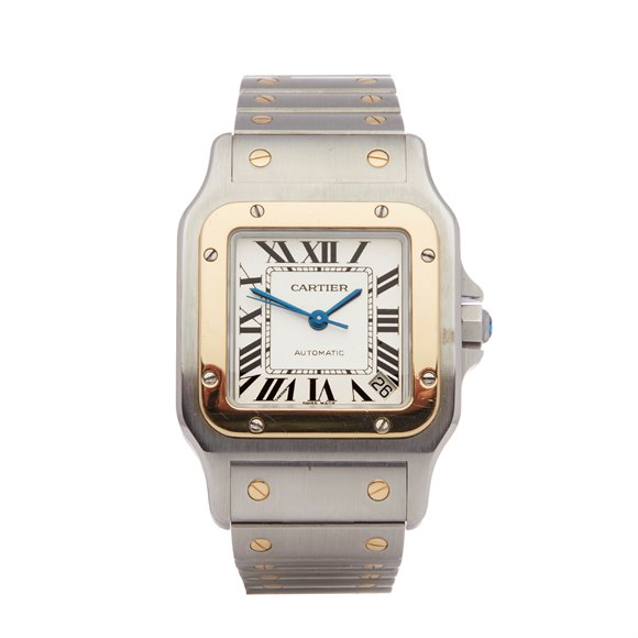 Cartier Santos Galbee Stainless Steel & Yellow Gold - 2823 or W20099C4