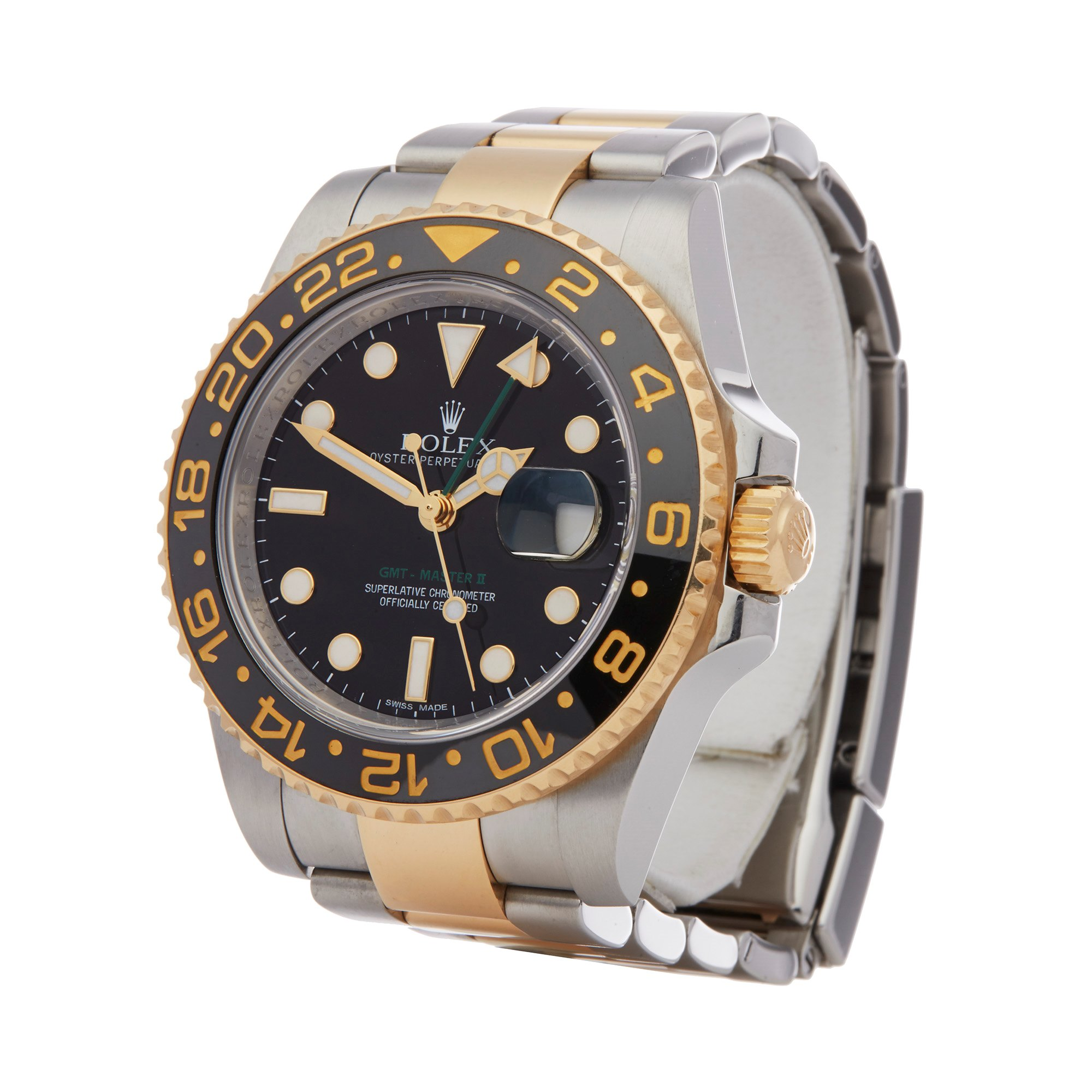 Rolex GMT-Master II 18K Yellow Gold & Stainless Steel 116713LN