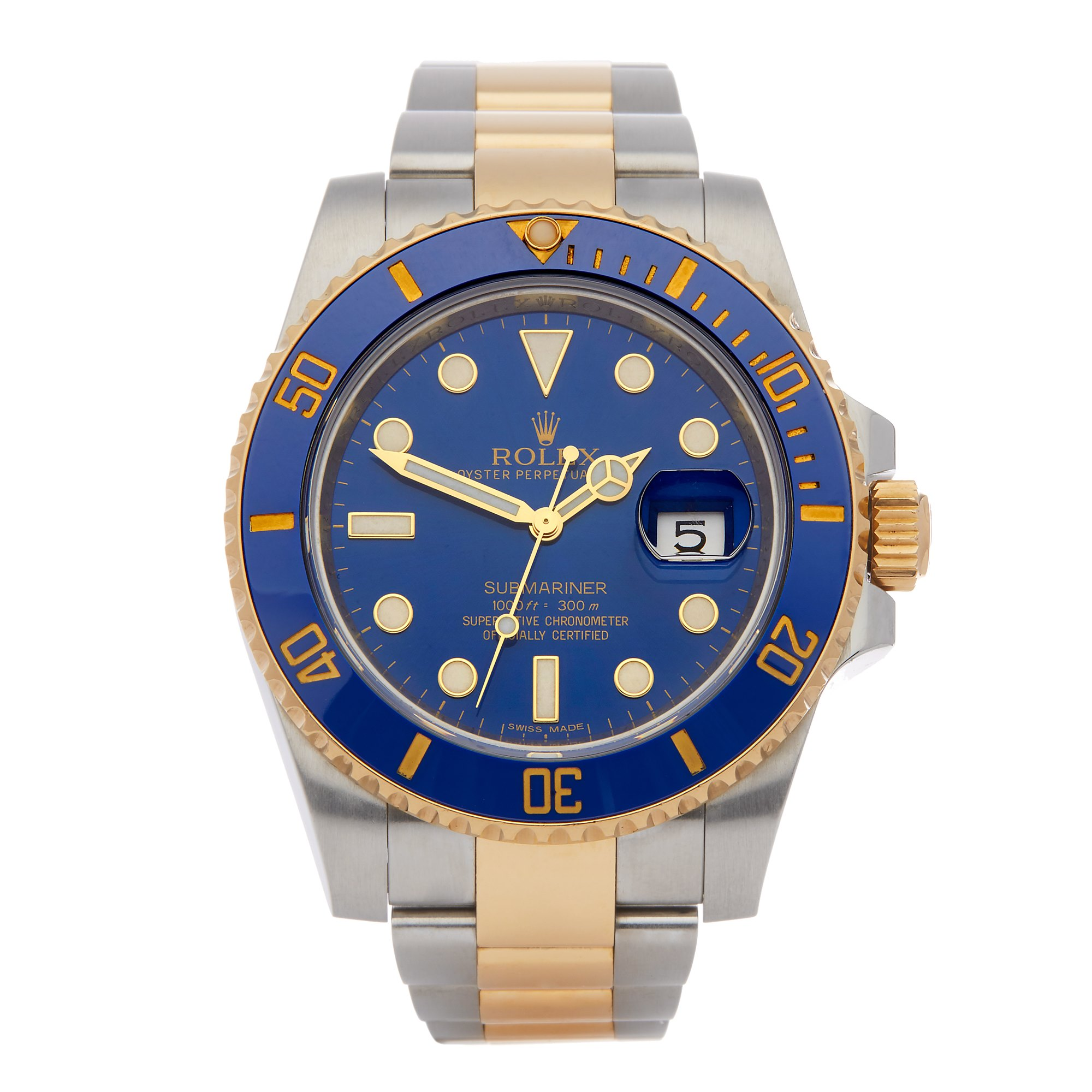 Rolex Submariner Date 18K Yellow Gold & Stainless Steel 116613LB