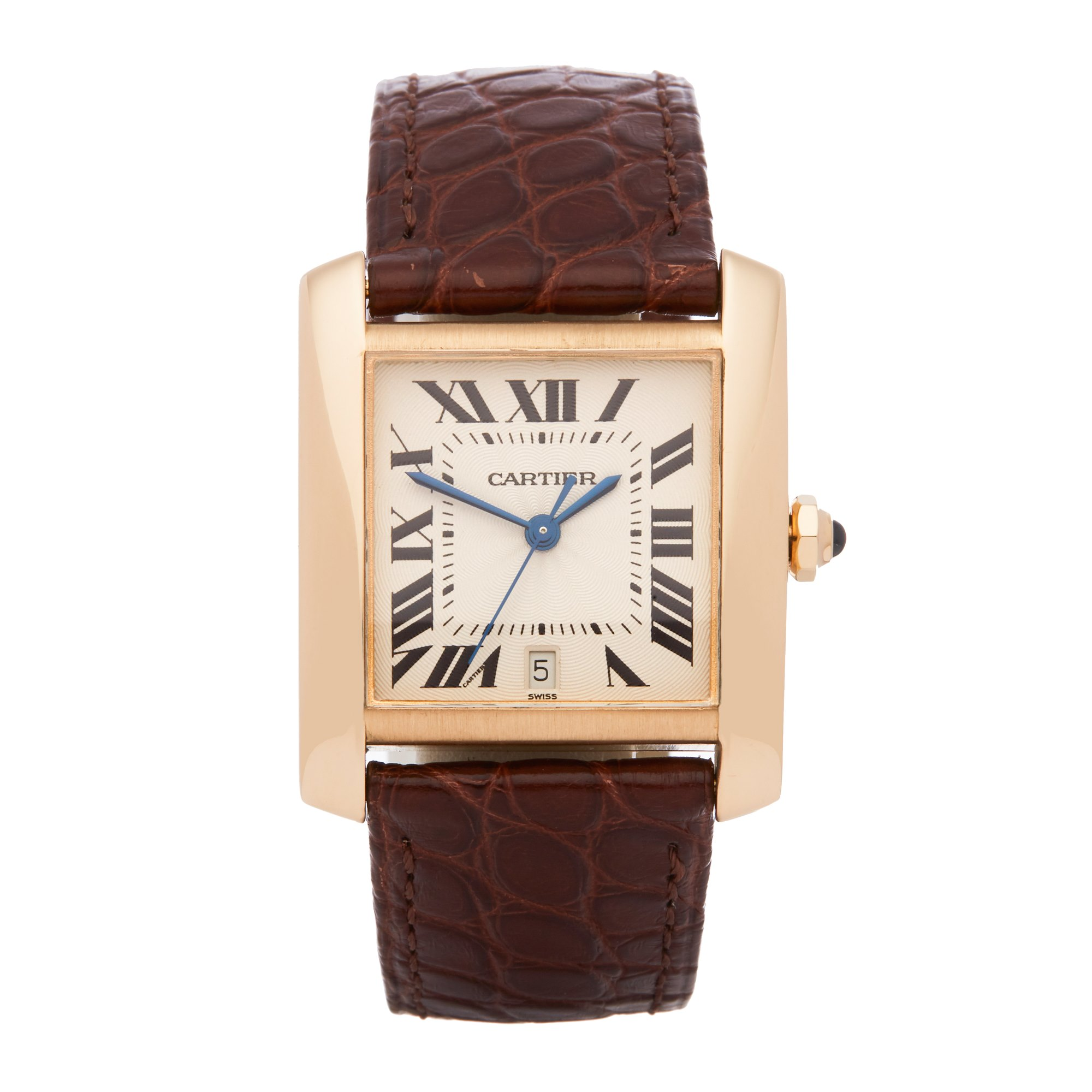 Cartier Tank Francaise Large Automatic 18K Yellow Gold 1840