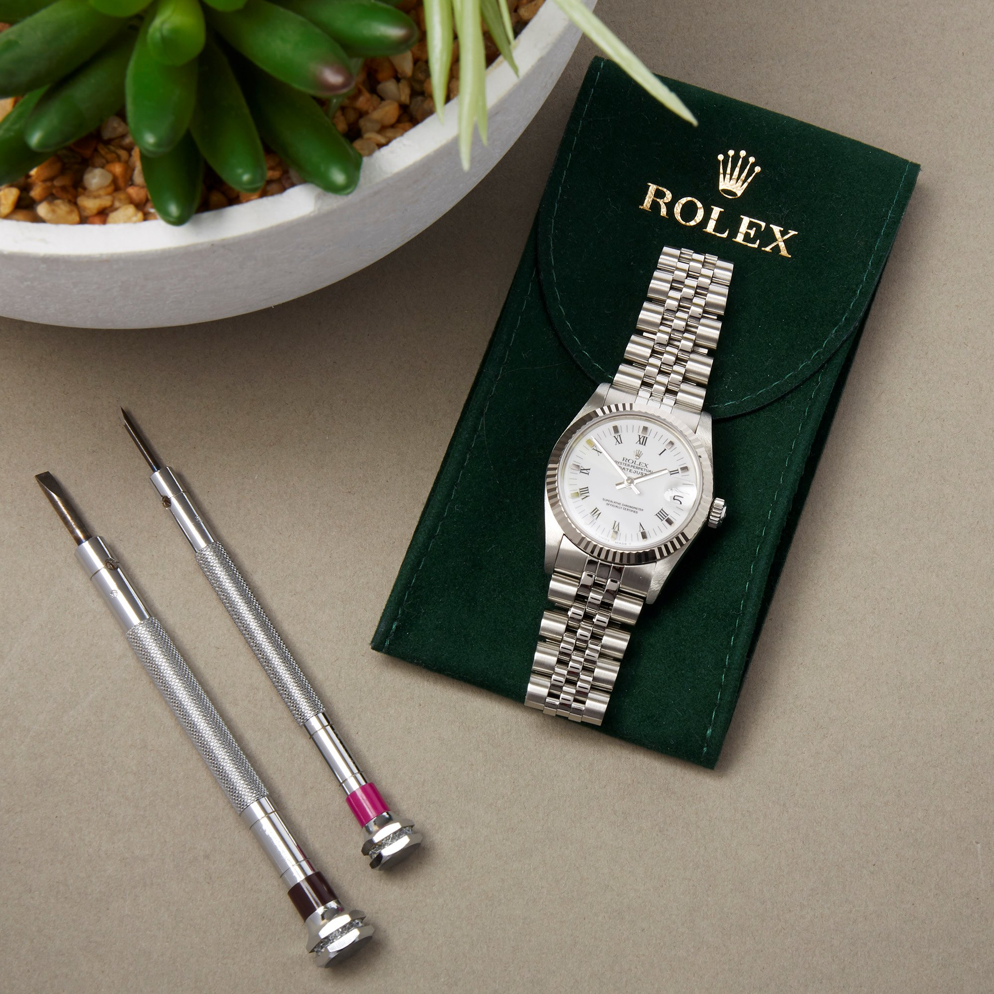 Rolex Datejust 31 Stainless Steel & White Gold 68274