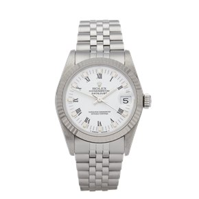 Rolex  31 Stainless Steel & White Gold